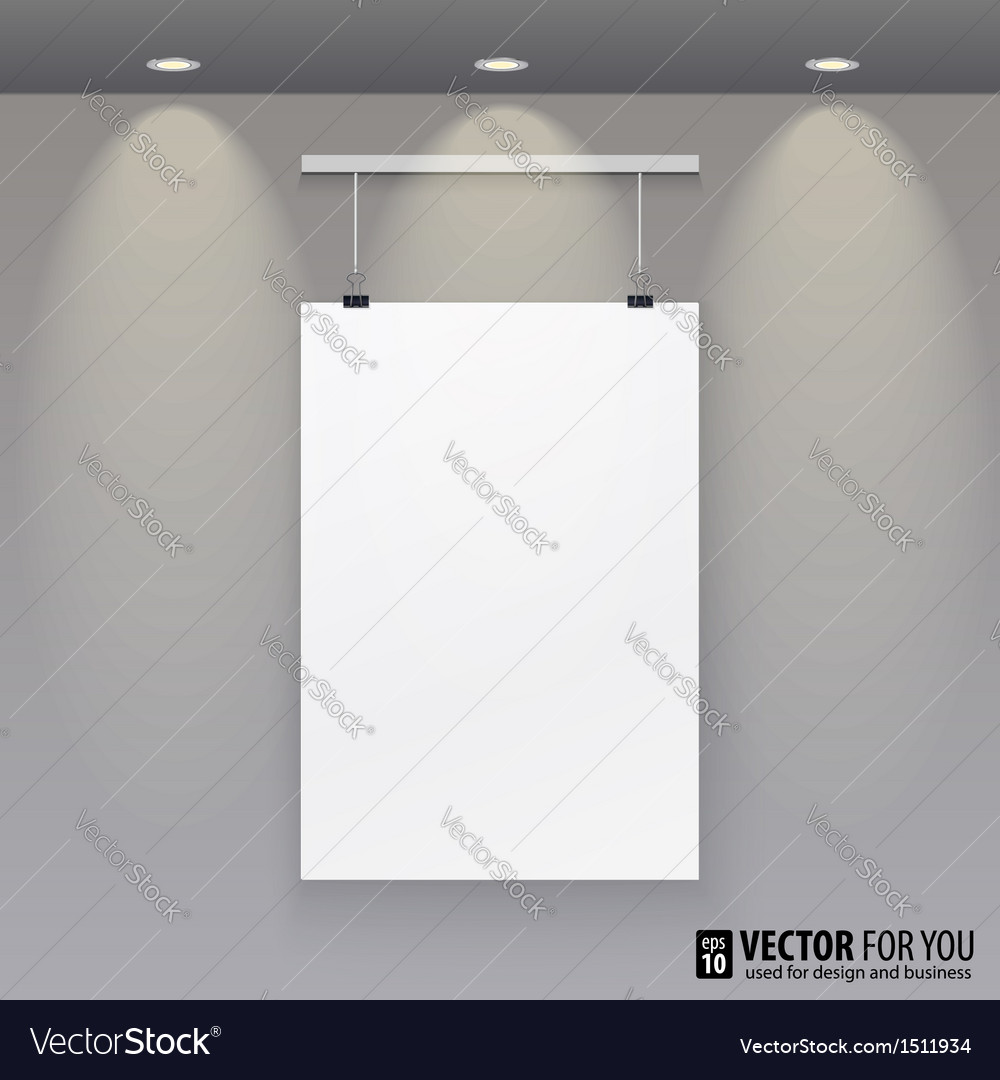 Pattern paper poster picture frame to the wall vector | Price: 1 Credit (USD $1)