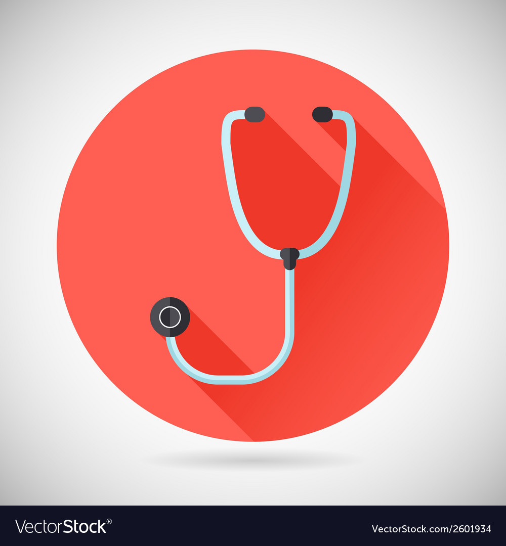 Physician therapist care survey symbol stethoscope vector | Price: 1 Credit (USD $1)