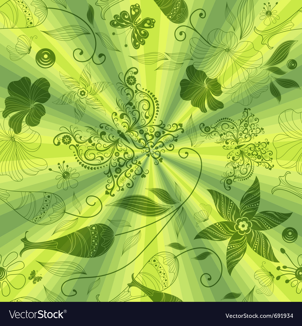 Seamless green pattern vector   Price: 1 Credit (USD $1)