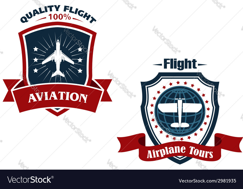 Airplane tours and aviation icons vector | Price: 1 Credit (USD $1)