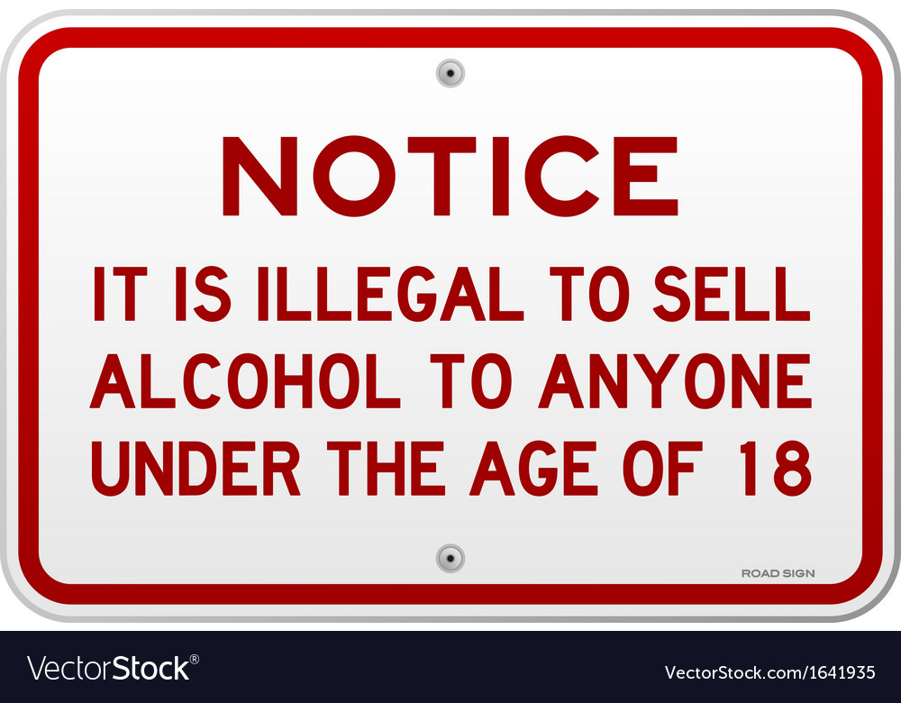 Alcohol notice 18 years vector | Price: 1 Credit (USD $1)