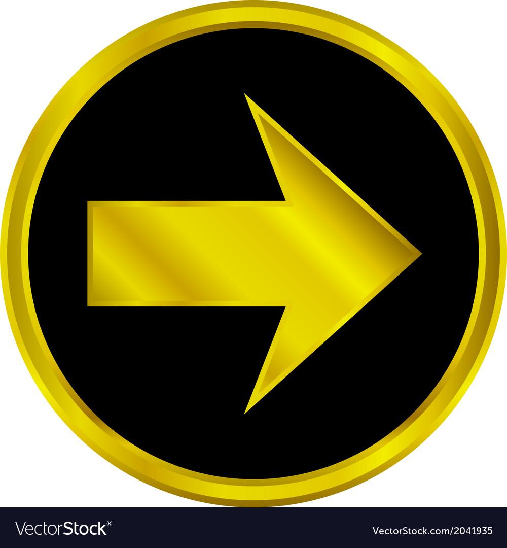 Arrow sign button vector   Price: 1 Credit (USD $1)