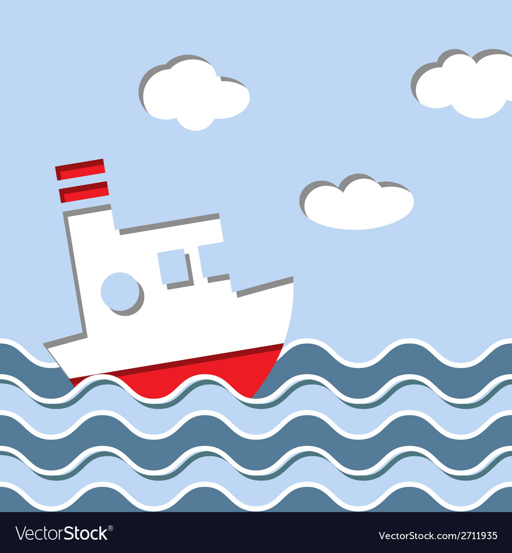 Cruise ship in the ocean vector   Price: 1 Credit (USD $1)