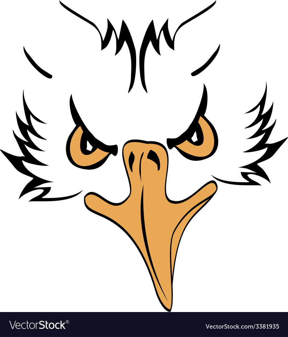 Eagle head profile vector | Price: 1 Credit (USD $1)