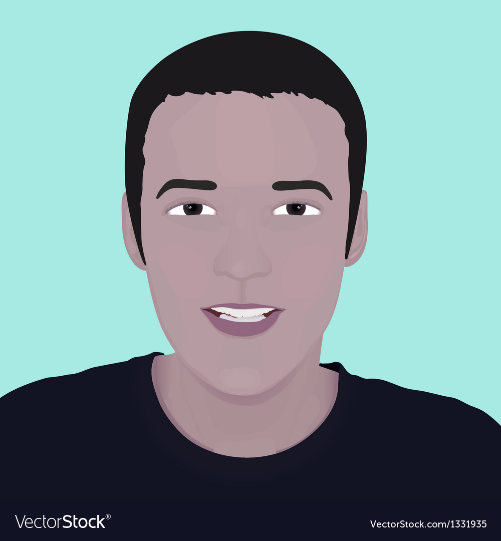 Face man design element vector | Price: 1 Credit (USD $1)