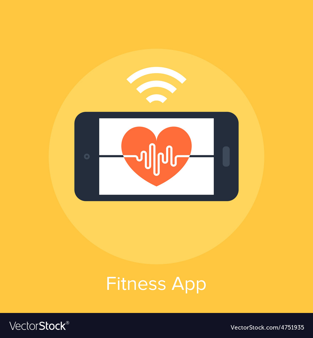 Fitness app vector   Price: 1 Credit (USD $1)