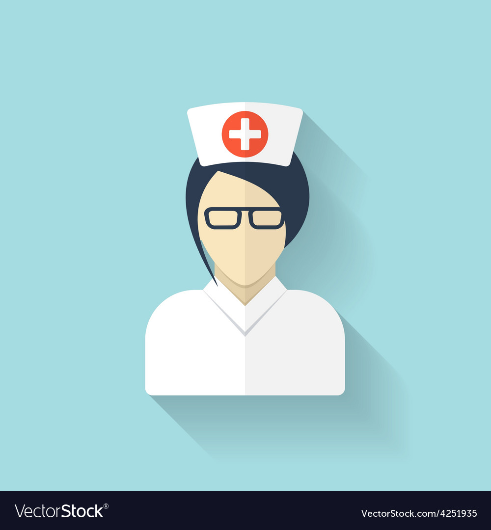 Flat medical doctor icon account profile avatar vector | Price: 1 Credit (USD $1)