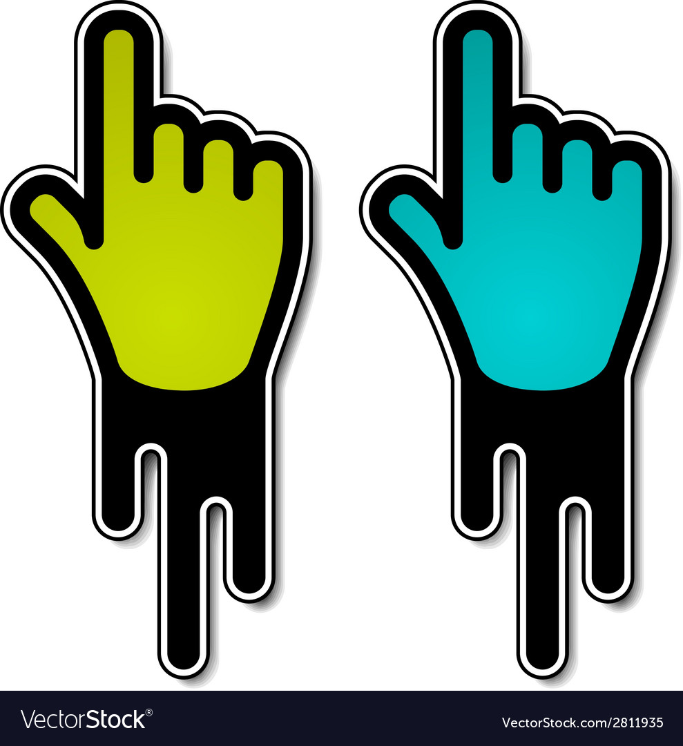 Flowing hand pointer labels vector | Price: 1 Credit (USD $1)