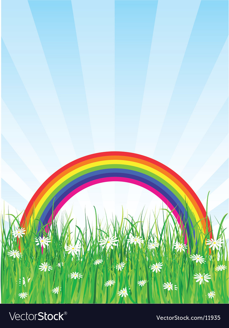 Rainbow background vector | Price: 1 Credit (USD $1)