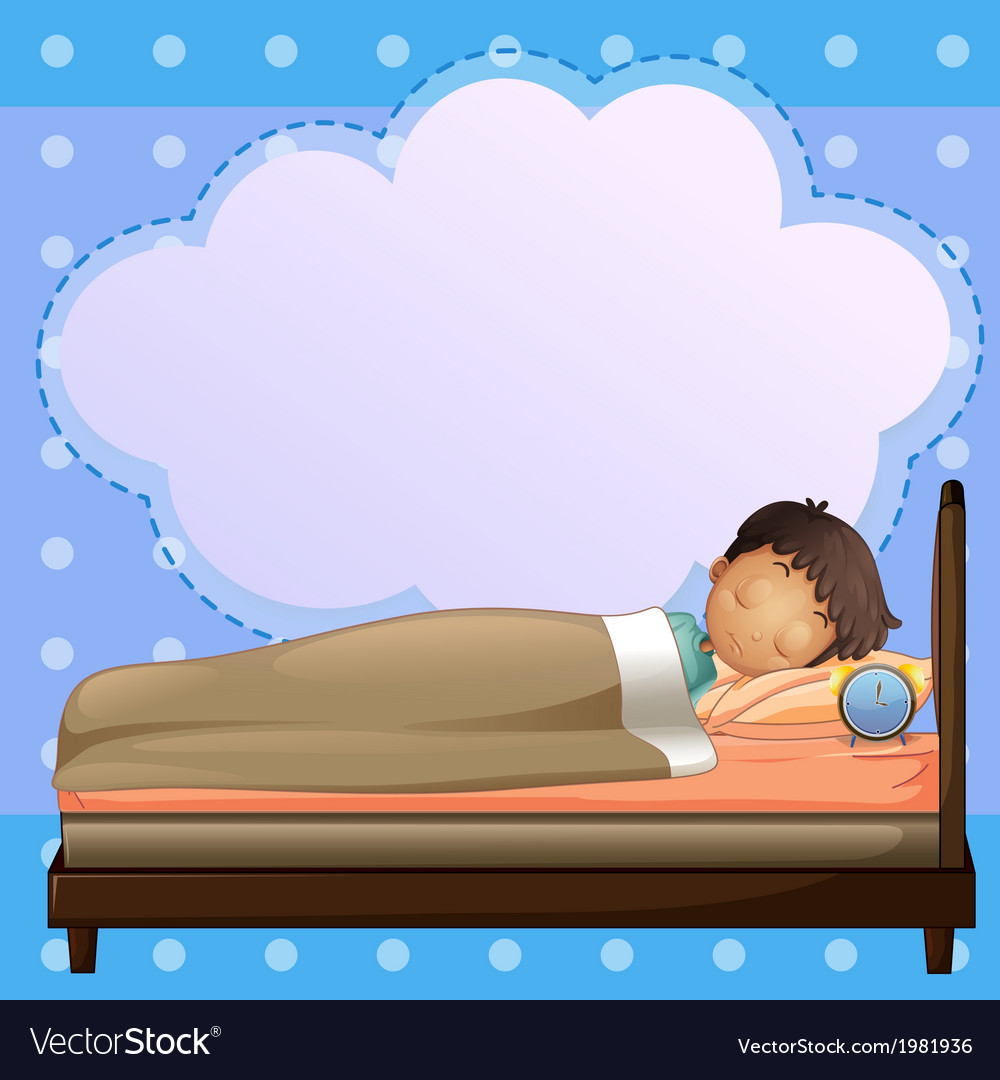 A boy sleeping soundly with an empty callout vector | Price: 1 Credit (USD $1)
