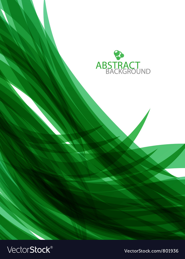 Abstract green waves background vector | Price: 1 Credit (USD $1)