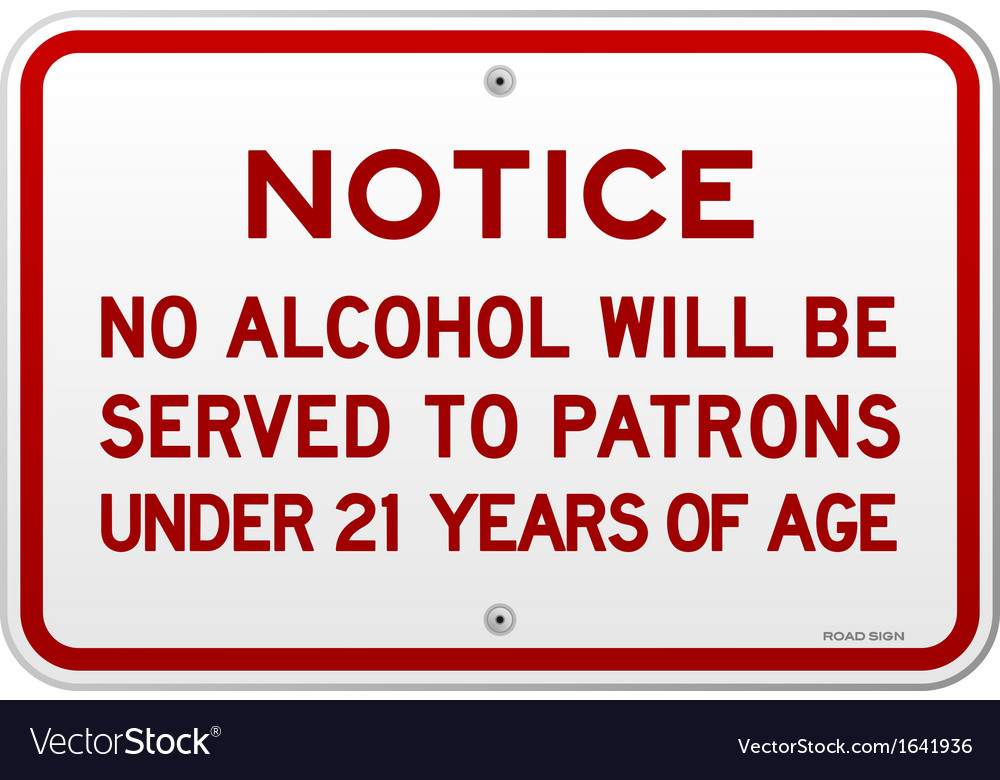 Alcohol notice 21 years vector | Price: 1 Credit (USD $1)