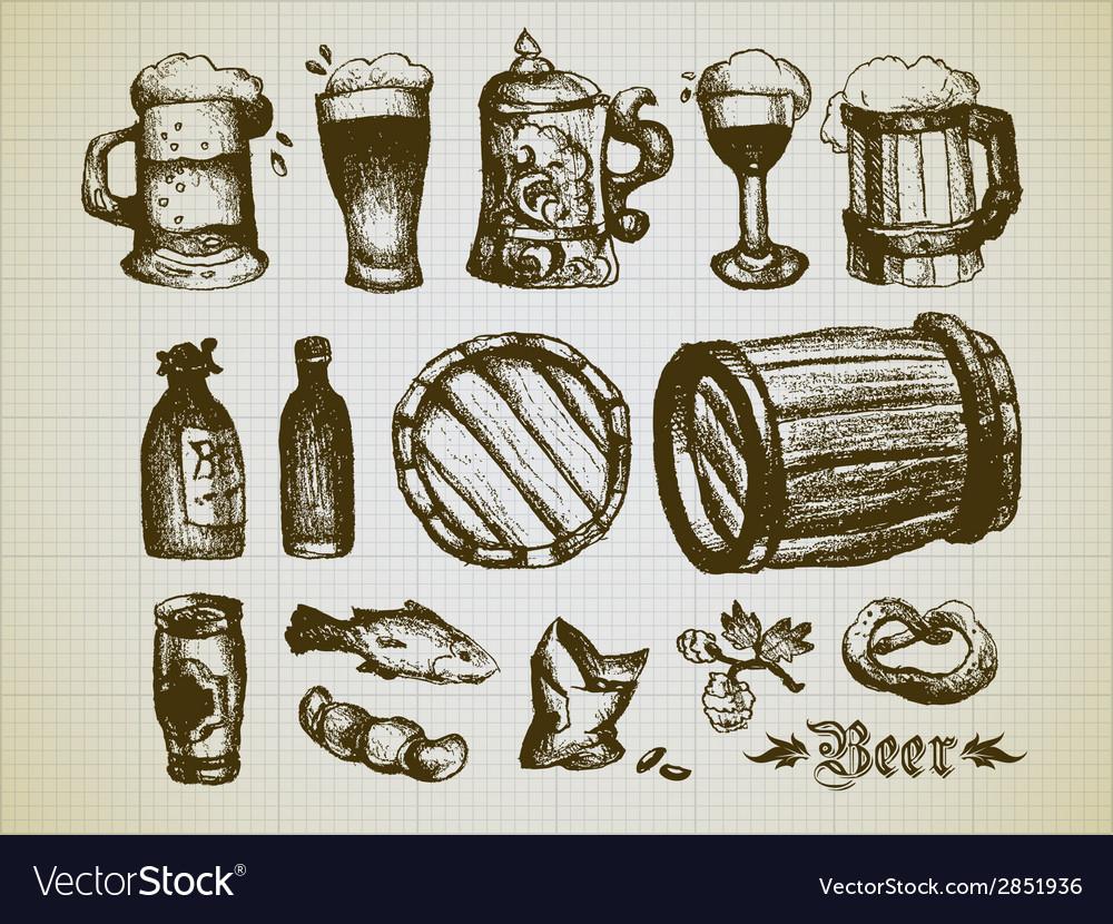 Beer elements vector | Price: 1 Credit (USD $1)