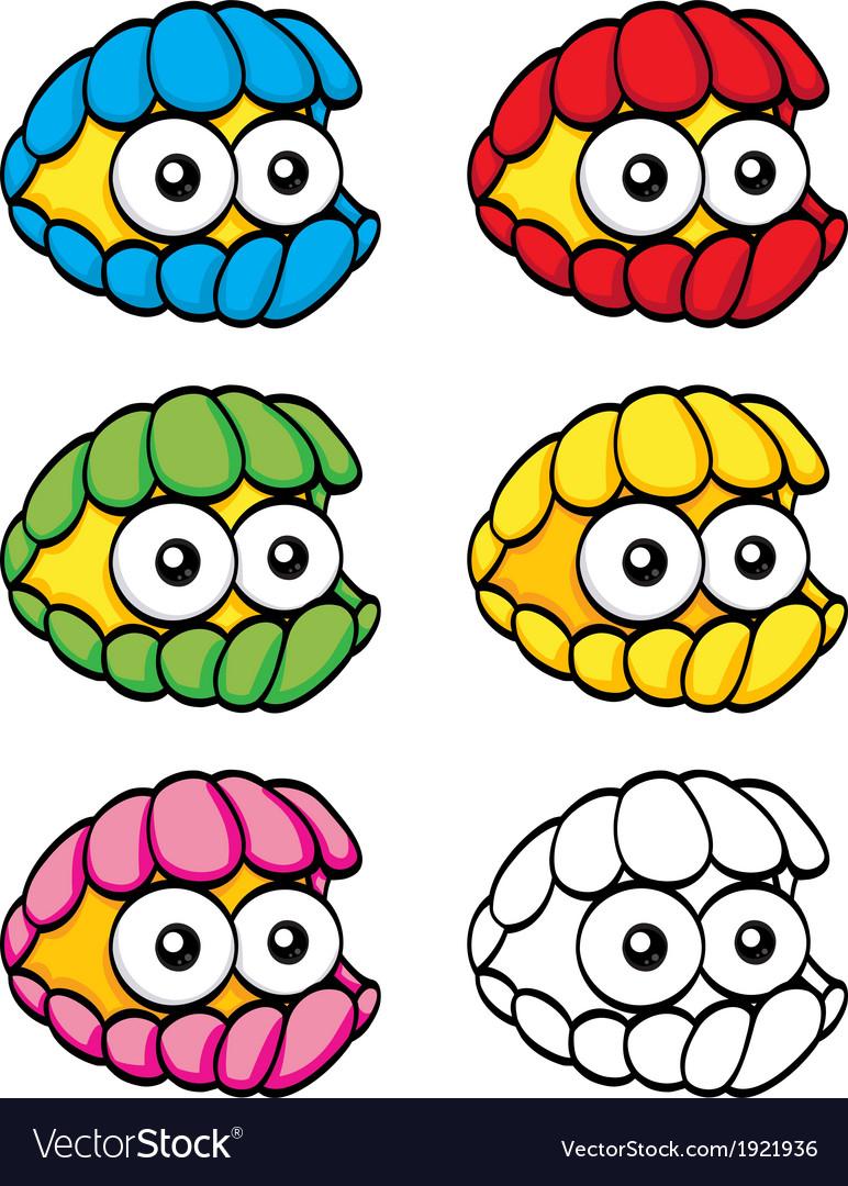 Cartoon clam vector | Price: 1 Credit (USD $1)
