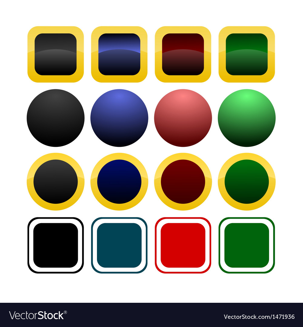Collection of icon or button templates vector | Price: 1 Credit (USD $1)