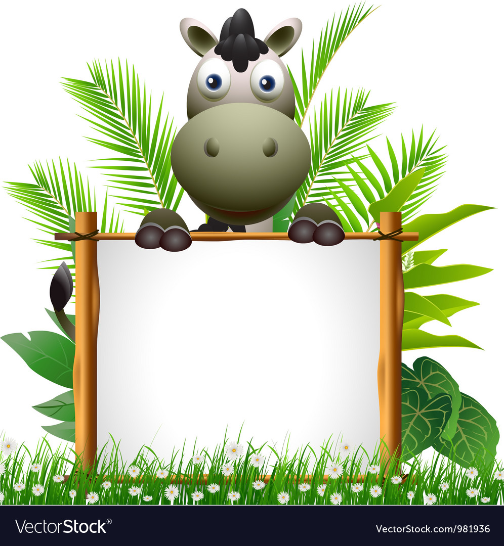 Cute donkey cartoon vector | Price: 3 Credit (USD $3)