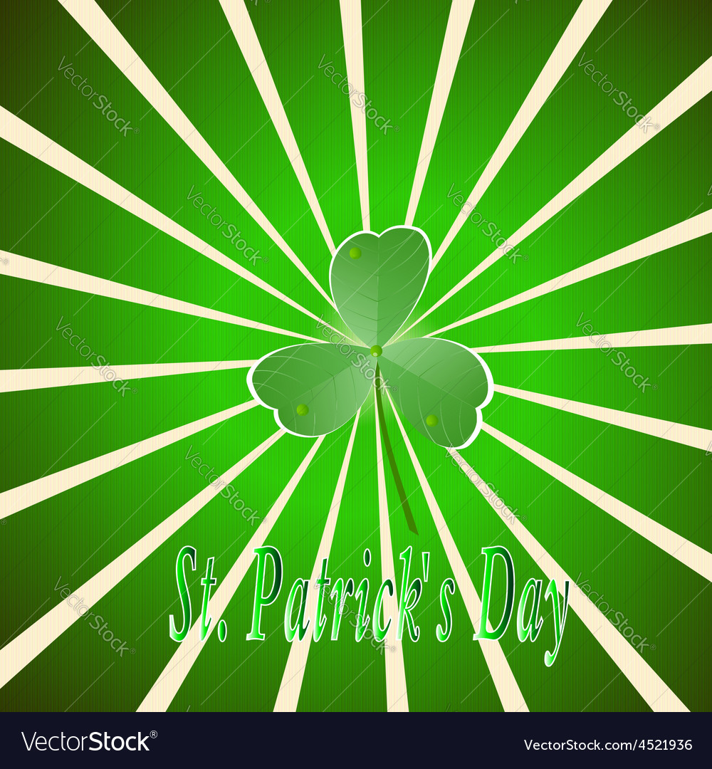 Decor ireland culture leprekon leaf mart celebrati vector | Price: 1 Credit (USD $1)