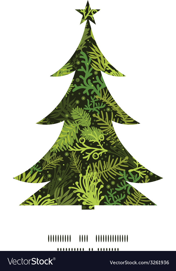 Evergreen christmas tree christmas tree silhouette vector | Price: 1 Credit (USD $1)