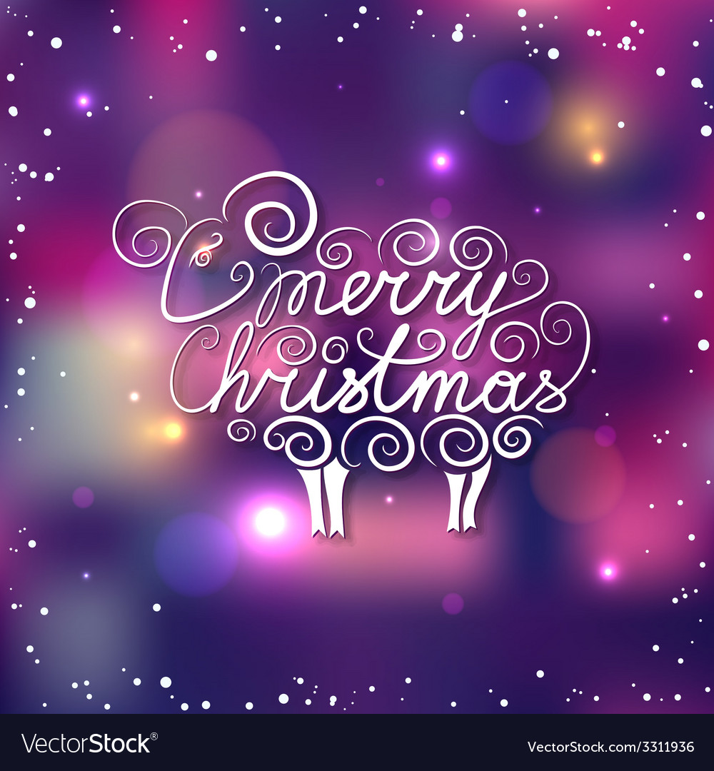 Happy new year christmas lettering with hand drawn vector | Price: 1 Credit (USD $1)