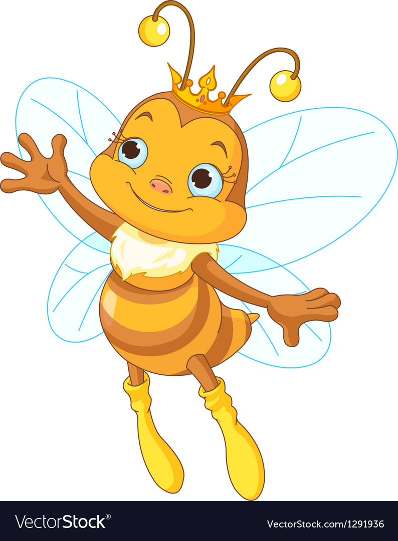 Queen bee showing vector | Price: 1 Credit (USD $1)