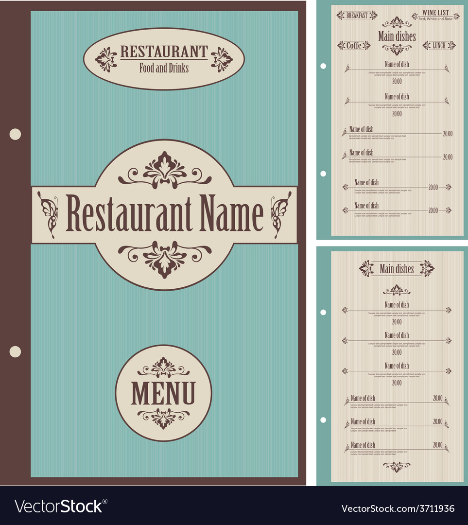 Restaurant menu design template - vector | Price: 1 Credit (USD $1)