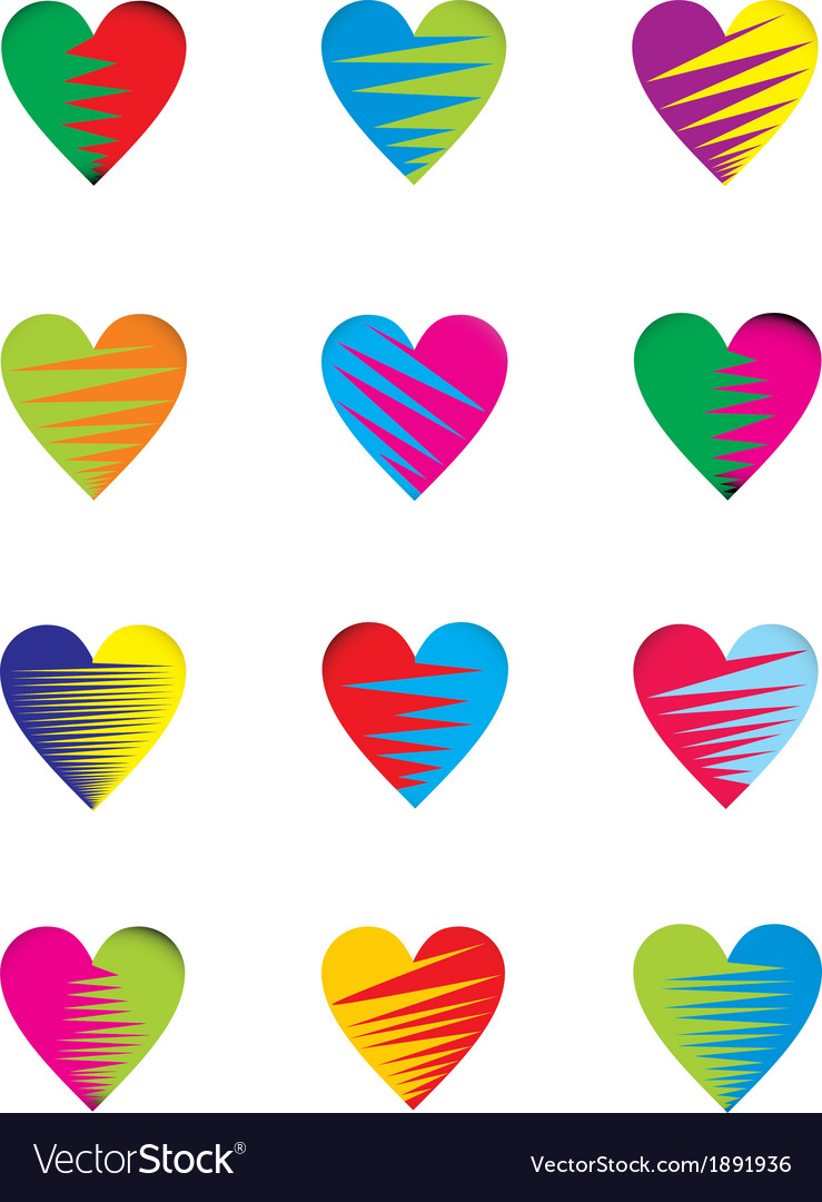 Two color heart vector | Price: 1 Credit (USD $1)