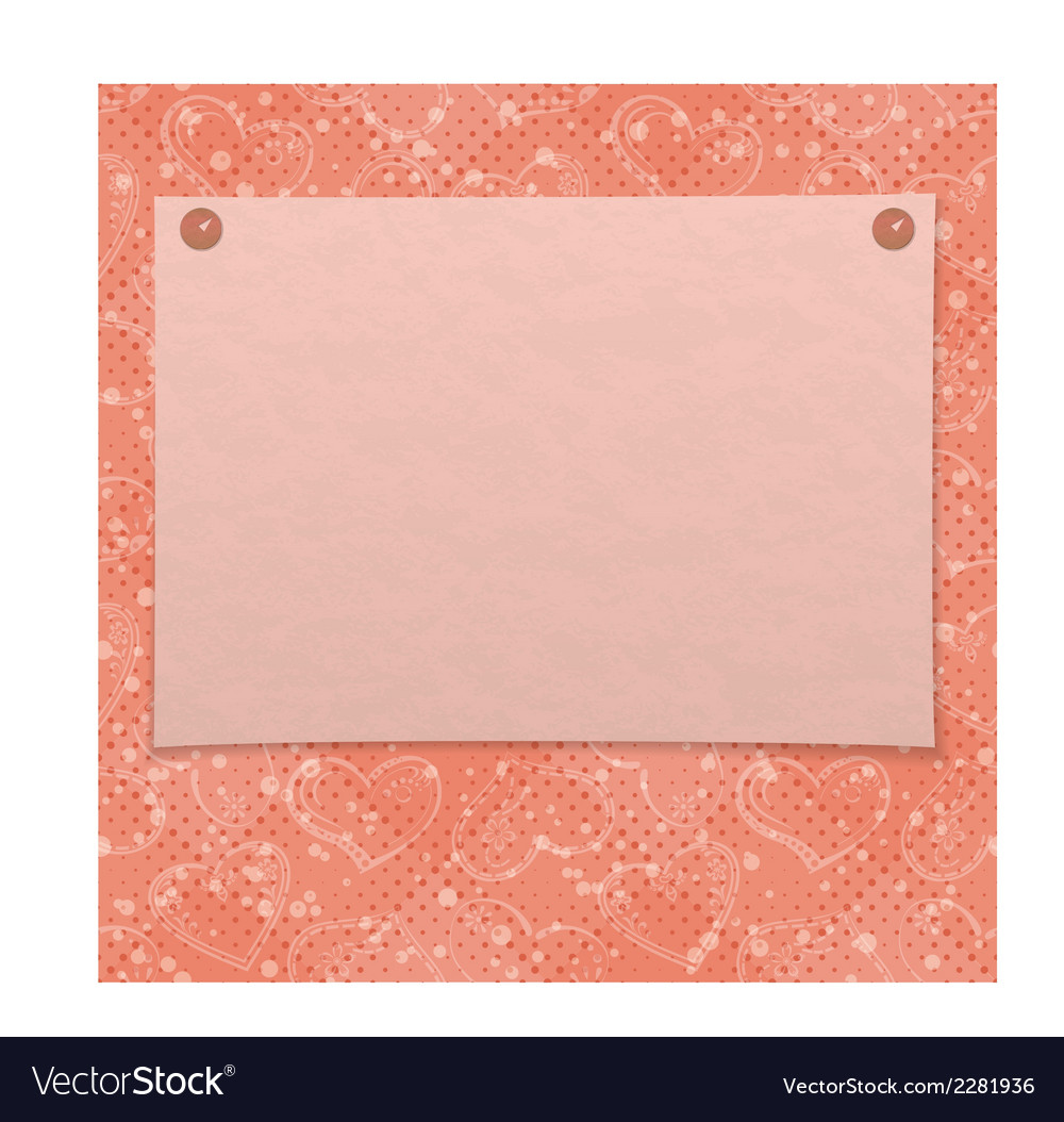 Valentine background with paper vector | Price: 1 Credit (USD $1)