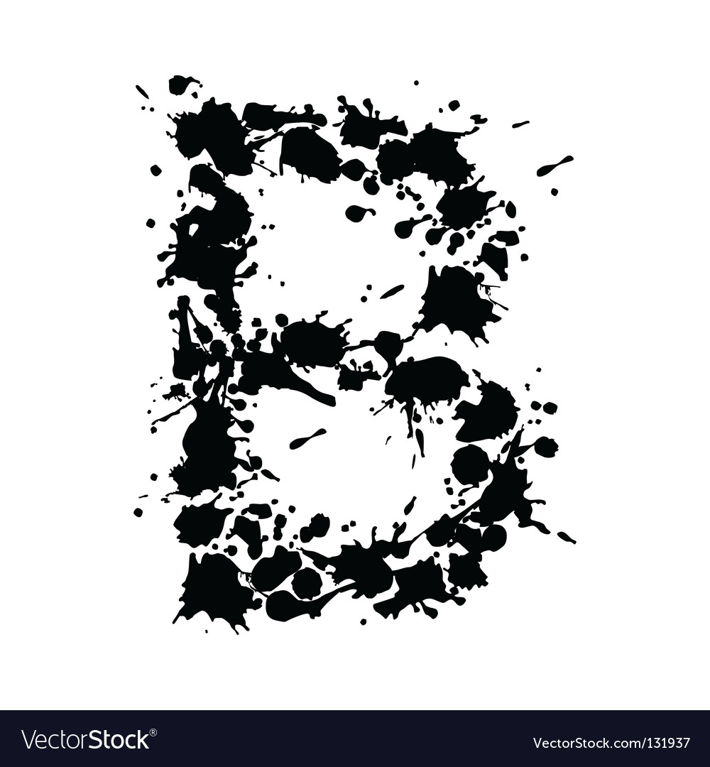 Alphabet ink b vector | Price: 1 Credit (USD $1)