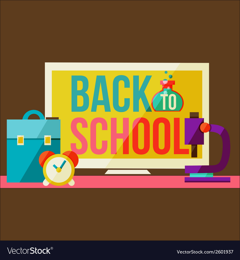 Back to school design template vector | Price: 1 Credit (USD $1)