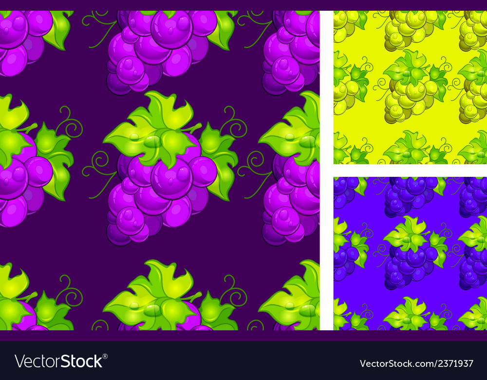 Cluster grapes seamless vector | Price: 1 Credit (USD $1)