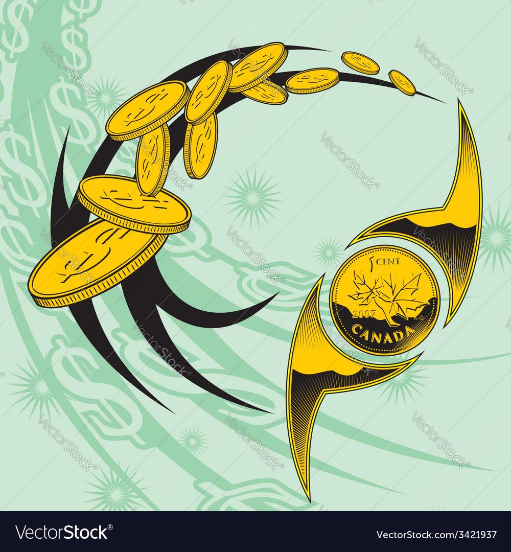 Coins design set vector | Price: 1 Credit (USD $1)