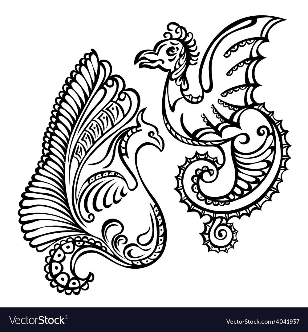 Fantasy abstract dragon vector   Price: 1 Credit (USD $1)