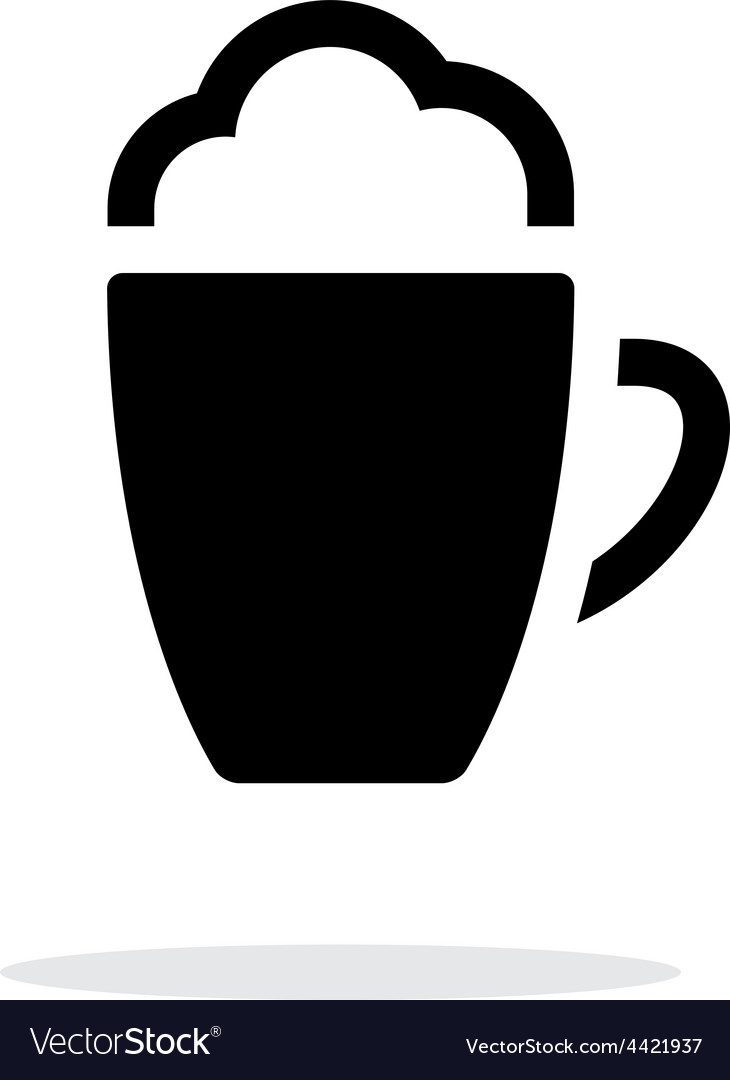 Foam coffee simple icon on white background vector | Price: 1 Credit (USD $1)