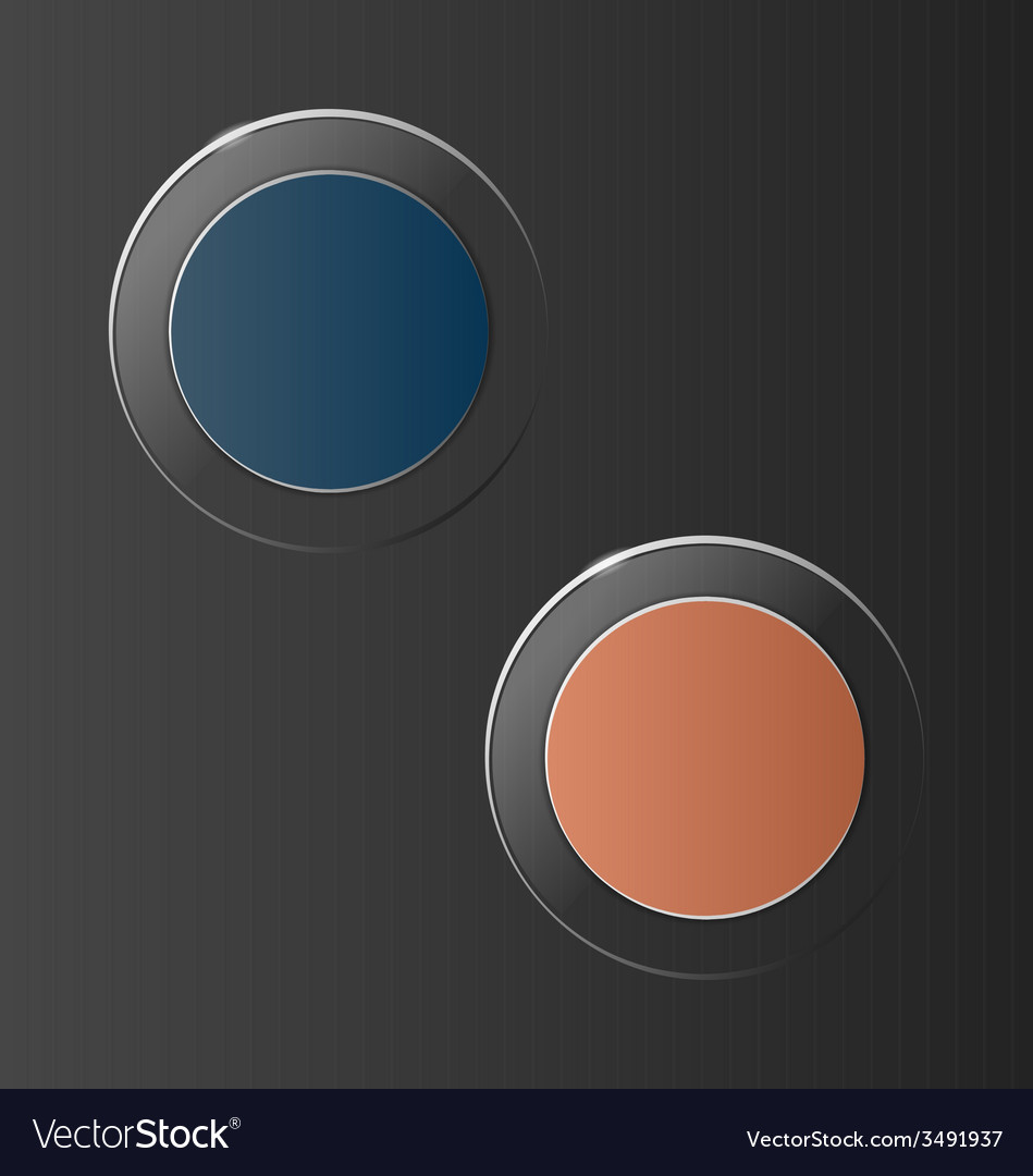 Glassy circle icons on grey vector | Price: 1 Credit (USD $1)