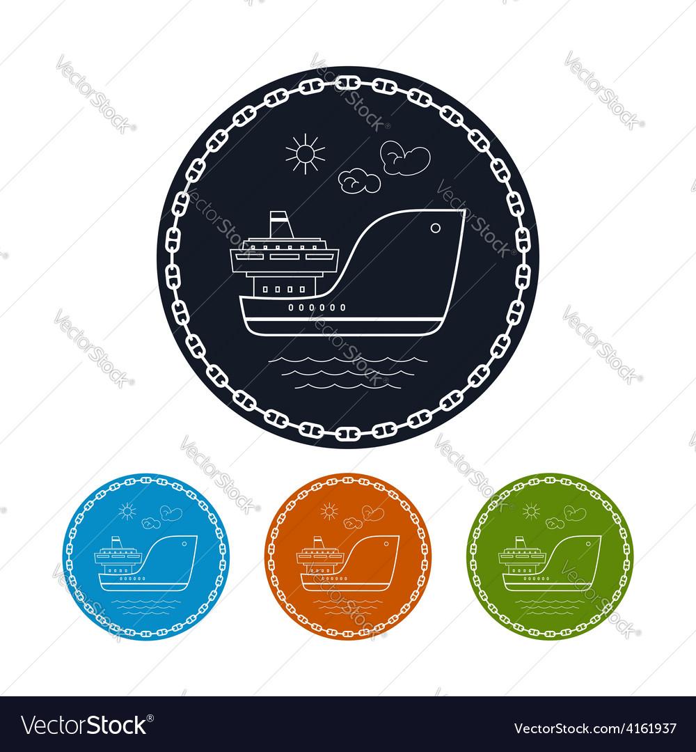 Icon cargo ship vector | Price: 1 Credit (USD $1)