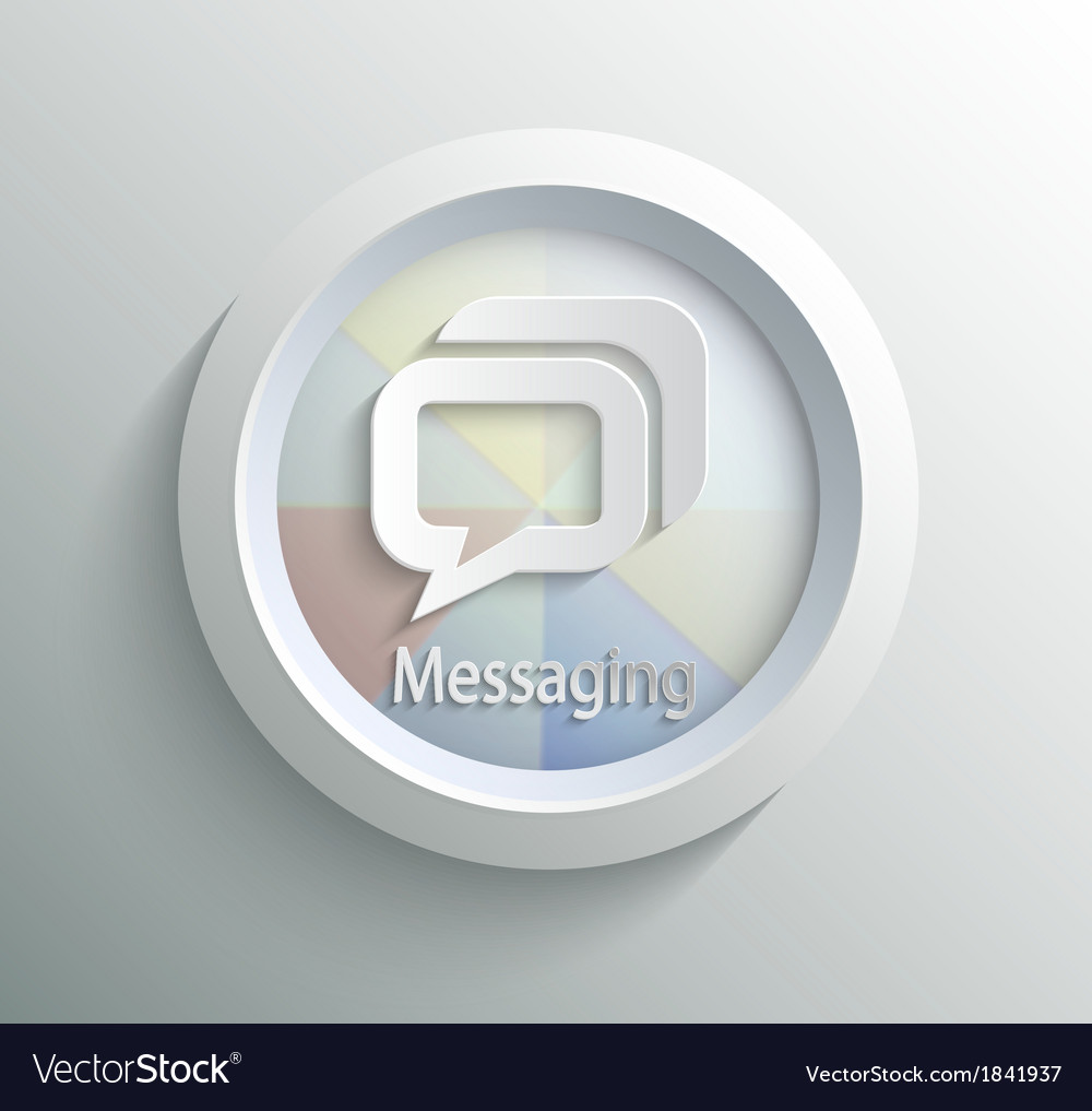 Icon message vector | Price: 1 Credit (USD $1)