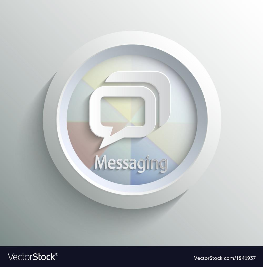 Icon message vector | Price: 1 Credit (USD $1)