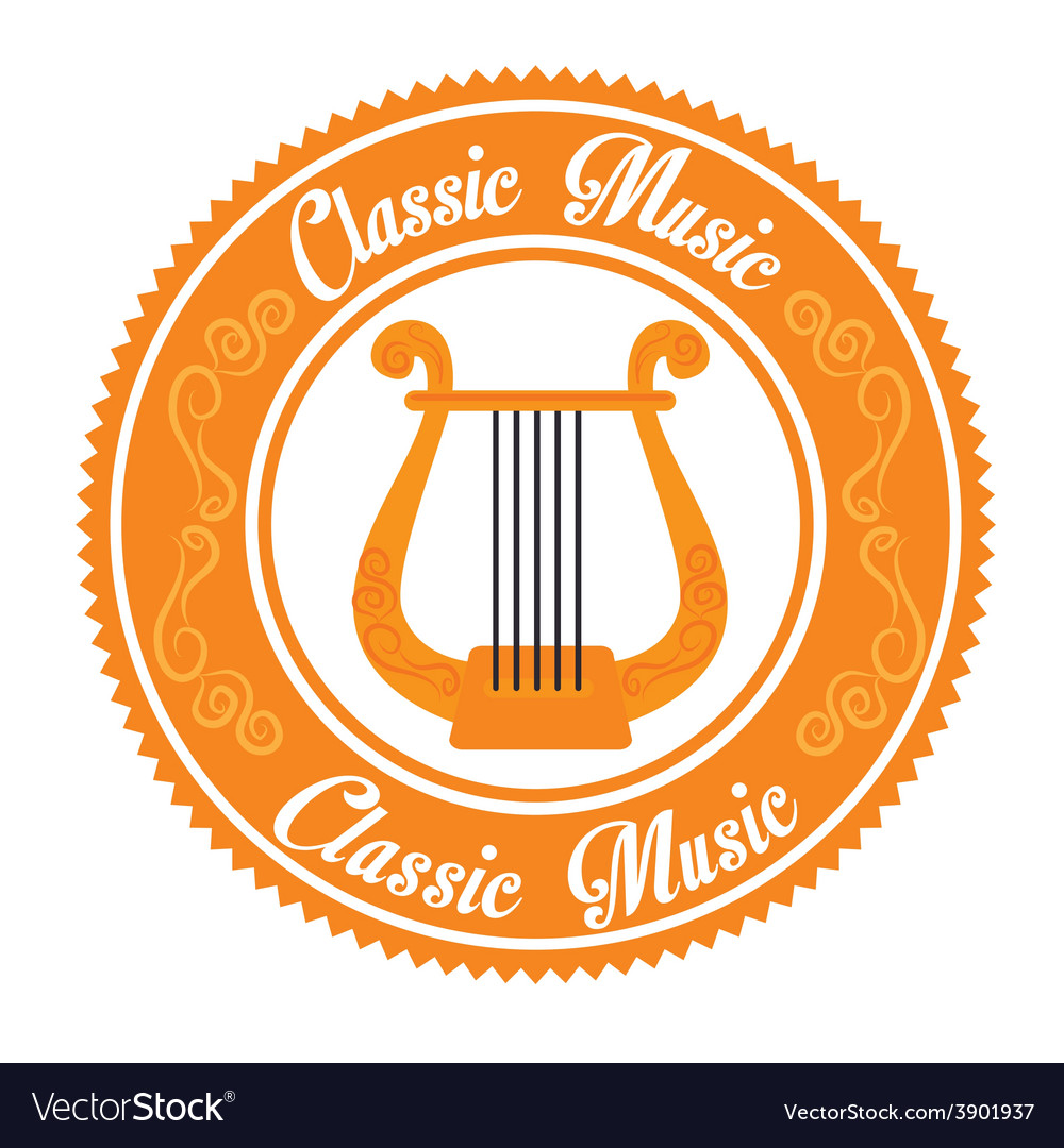 Music design over white background vector | Price: 1 Credit (USD $1)