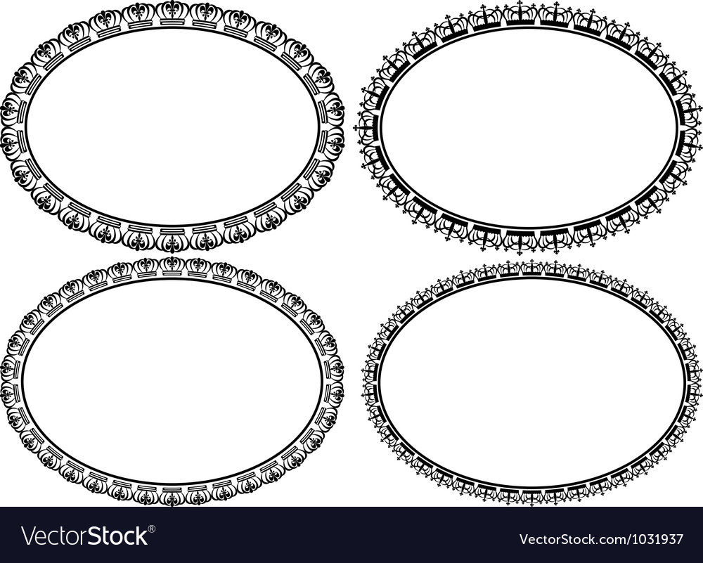 Oval borders vector | Price: 1 Credit (USD $1)