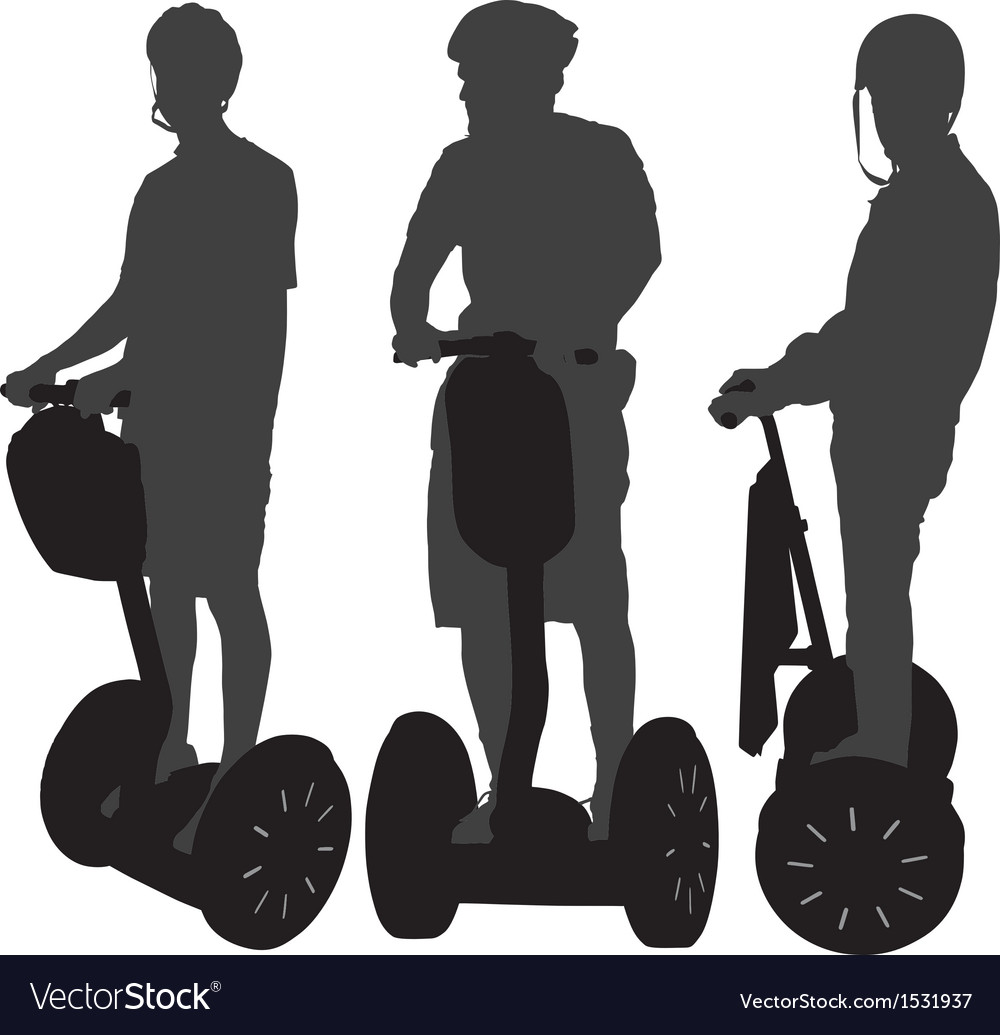 Segway silhouette vector | Price: 1 Credit (USD $1)
