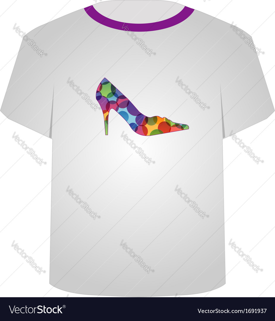 T shirt template- shoe lover vector | Price: 1 Credit (USD $1)