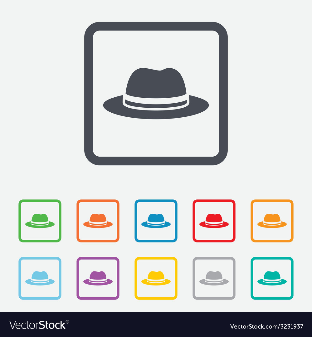 Top hat sign icon classic headdress symbol vector | Price: 1 Credit (USD $1)