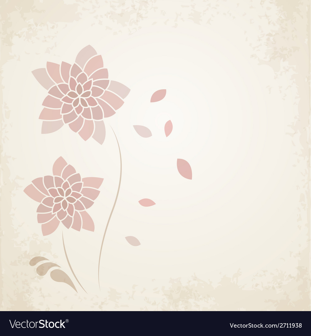 Abstract floral background in vintage style vector | Price: 1 Credit (USD $1)