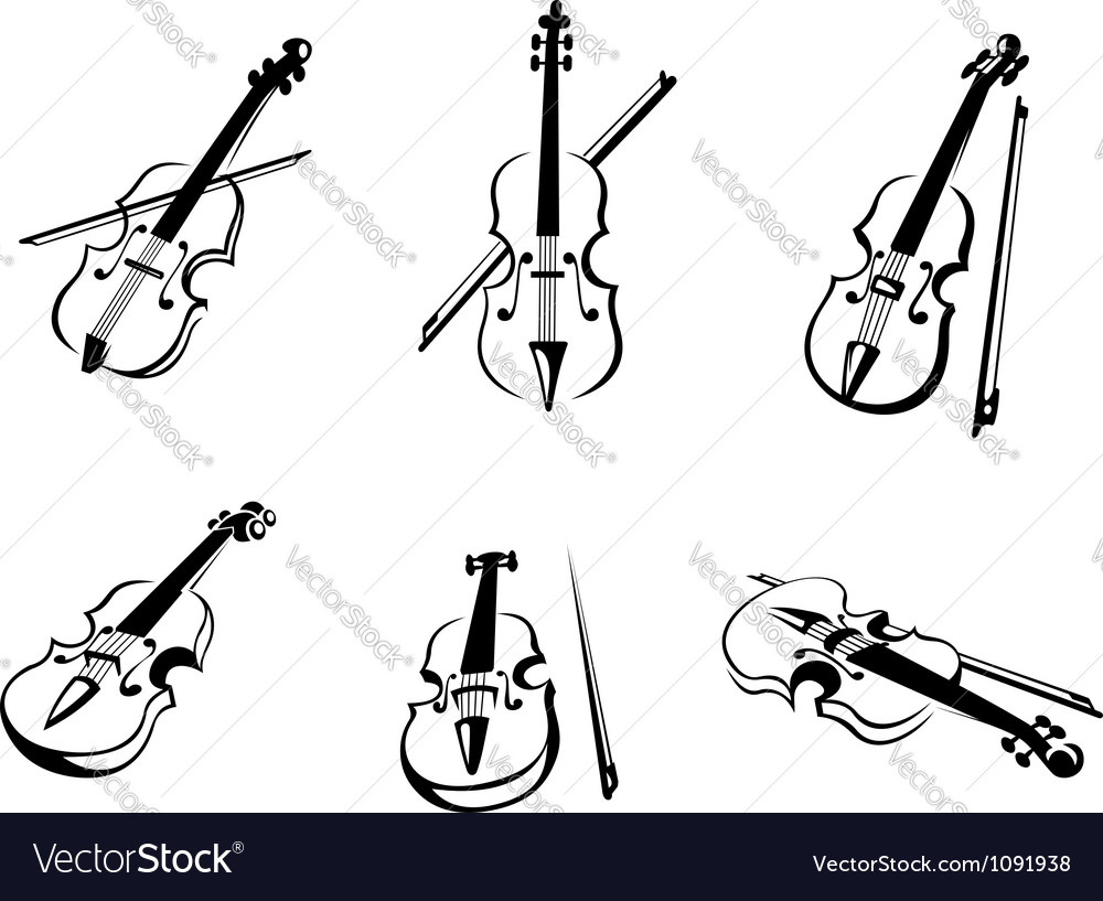 Classical violins instruments vector | Price: 1 Credit (USD $1)