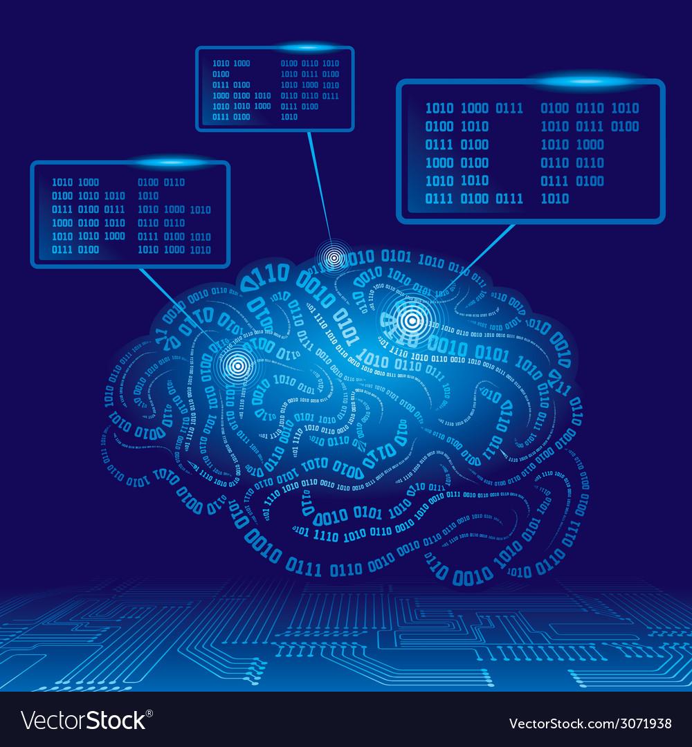 Cyber brain vector | Price: 1 Credit (USD $1)
