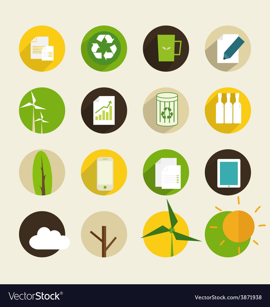 Ecological icon vector | Price: 1 Credit (USD $1)