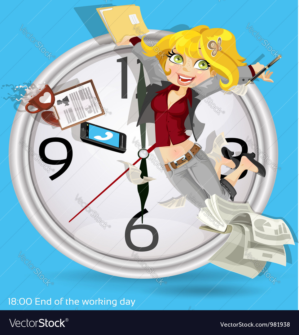 End of the working day vector | Price: 3 Credit (USD $3)