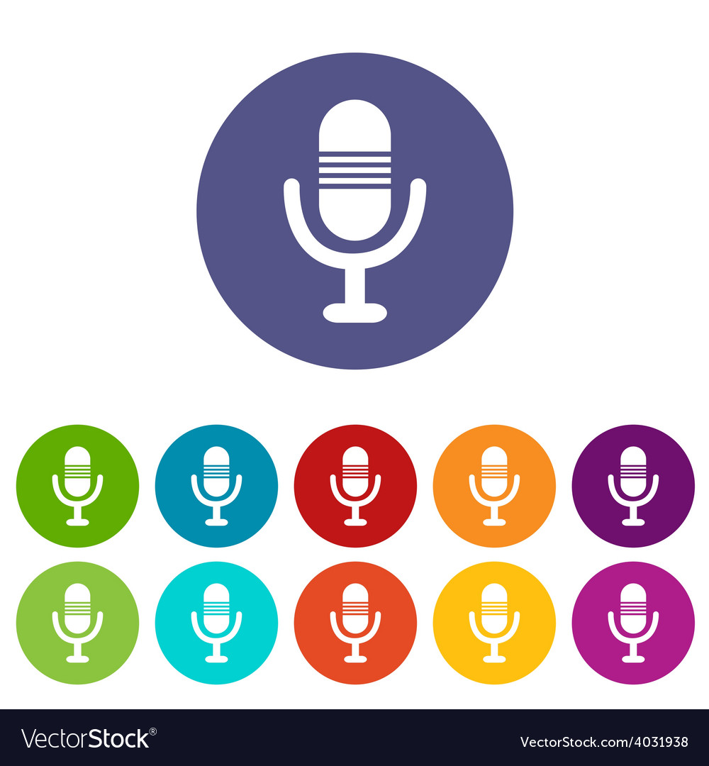 Microphone flat icon vector | Price: 1 Credit (USD $1)