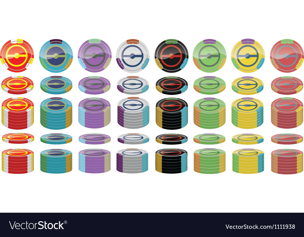 Poker chip pack vector | Price: 1 Credit (USD $1)