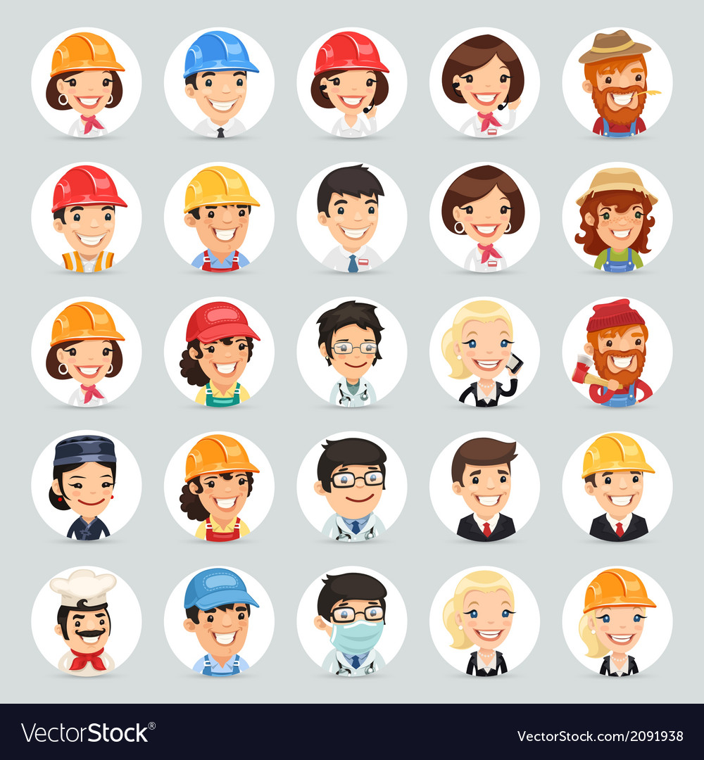 Professions icons set1 2 vector | Price: 1 Credit (USD $1)